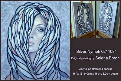 Art Print featuring the painting Silver Nymph 021109 Comp by Selena Boron