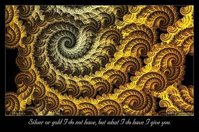 Digital Art - Silver Or Gold by Missy Gainer
