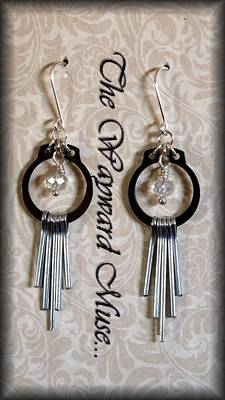 Lampwork Jewelry - Silver Paddles by Jan Brieger-Scranton