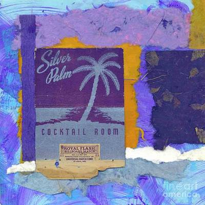 Mixed Media - Silver Palm by Patricia  Tierney