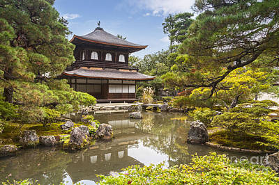 Photograph - Silver Pavilion Kyoto Japan by Colin and Linda McKie