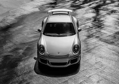 Auto Digital Art - Silver Porsche 911 Gt3 by Douglas Pittman