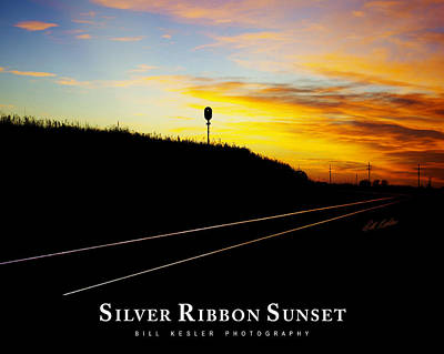 Photograph - Silver Ribbon Sunset by Bill Kesler