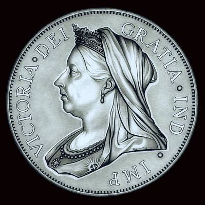Drawing - Silver Royal Queen Victoria by Fred Larucci