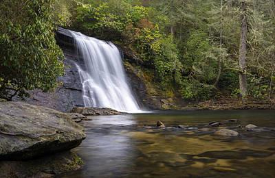 Photograph - Silver Run Falls Waterfall Cashiers Nc Blue Ridge Mountains by Dave Allen
