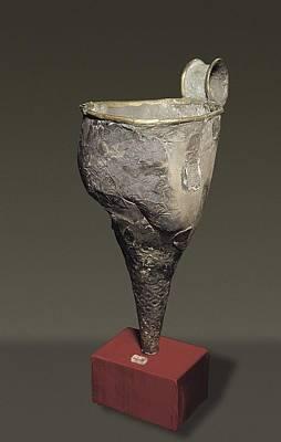 Silver Rython. Mycenaean Art. Jewelry Art Print by Everett