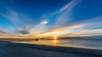 Photograph - Silver Sands Sunrise by Randy Scherkenbach