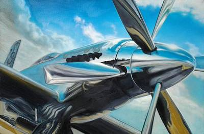 Painting - Silver Sky Plough by Riek  Jonker