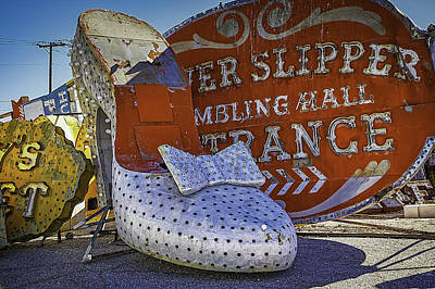 Junk Yard Photograph - Silver Slipper by Garry Gay