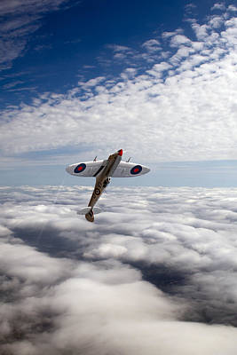Photograph - Silver Spitfire Slipping The Surly Bonds Poster Version by Gary Eason