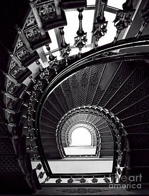 Silver Staircase Art Print