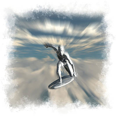 Digital Art - Silver Surfer... by Tim Fillingim