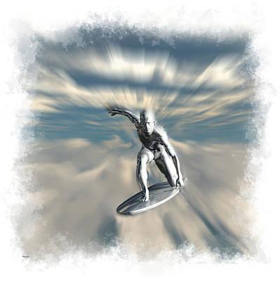 Digital Art - Silver Surfer... by Tim Fillingim