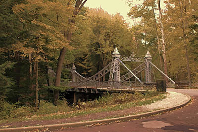 Photograph - Silver Suspension Bridge by Jack R Perry