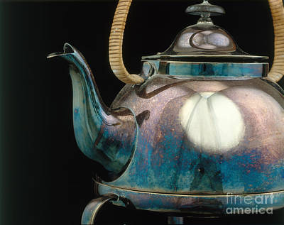 Silver Tarnish On Kettle Art Print by James L. Amos