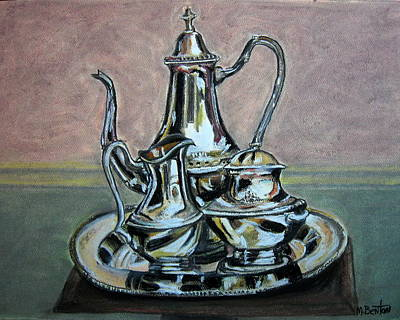 Silver Tea Set Art Print