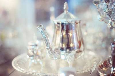 Photograph - Silver Teapot by Jenny Rainbow