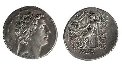Zeus Photograph - Silver Tetradrachm Coins by Photostock-israel