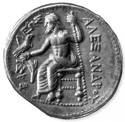 Zeus Photograph - Silver Tetradrachm Of Alexander by Photo Researchers