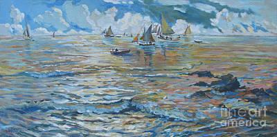 Bfa Painting - Silver Tide by Vanessa Hadady BFA MA
