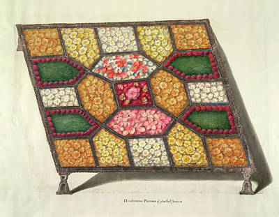 Silver Tray With Flowers Print by British Library