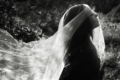 Veiled Photograph - Silver Veil by Cambion Art