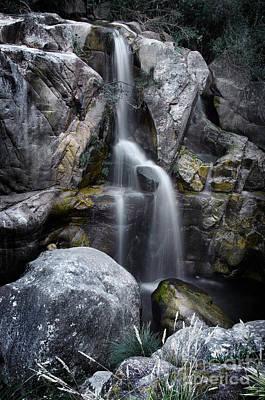 Silver Waterfall Art Print by Carlos Caetano