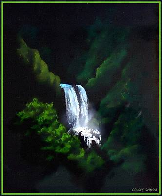 Waterfall Mixed Media - Silver Waterfall by Linda Seifried