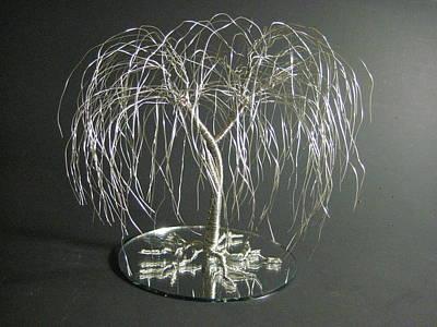 Silver Willow Wire Tree Art Wedding Cake Topper Original