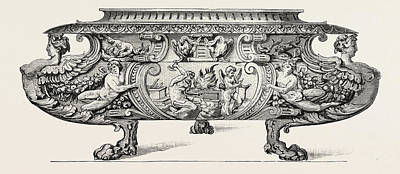 Italian Wine Drawing - Silver Wine-cooler. Sixteenth Century by English School