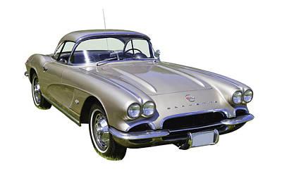 Photograph - Silver 1962 Chevrolet Corvette by Keith Webber Jr