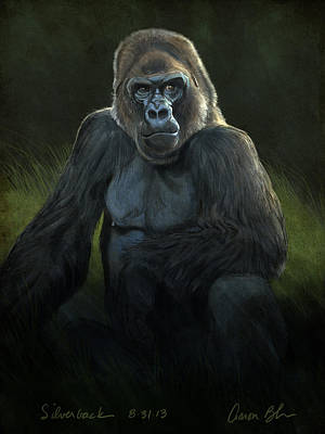 Ape Wall Art - Digital Art - Silverback by Aaron Blaise