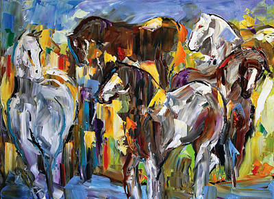 Pace Painting - Silver's Gang by Laurie Pace