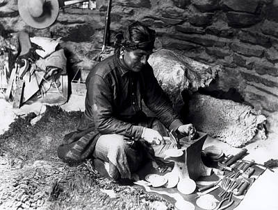 Metalwork Photograph - Silversmith At Work by William J Carpenter