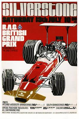Silverstone Grand Prix 1969 Print by Georgia Fowler