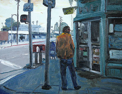 Lightpost Painting - Just Waitin' by John Matthew