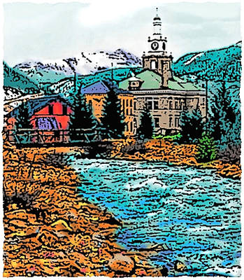 Digital Art - Silverton Colorado by Dan Miller