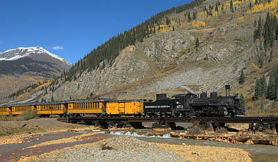 Guage Photograph - Silverton Train by Jerry McElroy