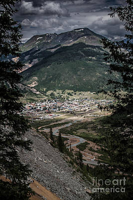 Silverton View From Above Art Print