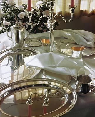 Silver Photograph - Silverware by Horst P. Horst