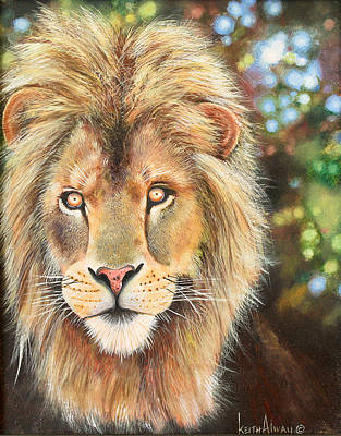 King Of Beasts Painting - Simba by Keith Alway