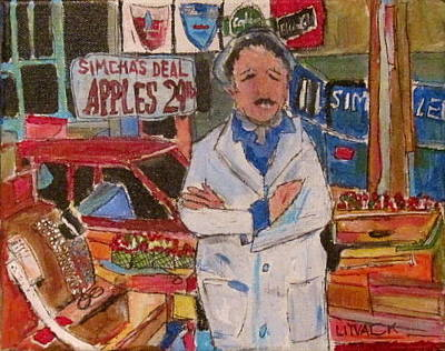 Carlings Beer Painting - Simcha On The Main by Michael Litvack