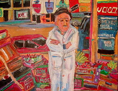 Le Plateau. Montreal Memories Painting - Simcha's Fruit And Vegetables by Michael Litvack