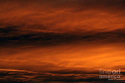 Photograph - Simmering Golden Clouds by Rebecca Christine Cardenas