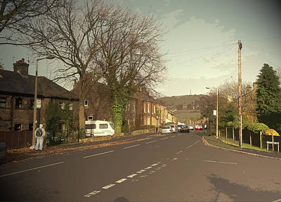 Junction Drawing - Simmondley Lane In Glossop, Pictured Here At Its Junction by Litz Collection