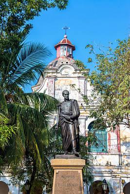 Simon Bolivar Statue Art Print