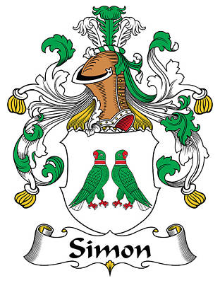Genealogy Digital Art - Simon Coat Of Arms German by Heraldry