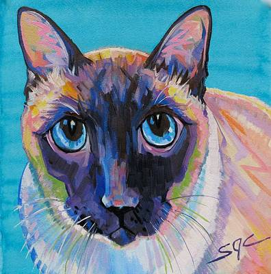 Painting - Simon The Siamese by Sarah Gayle Carter