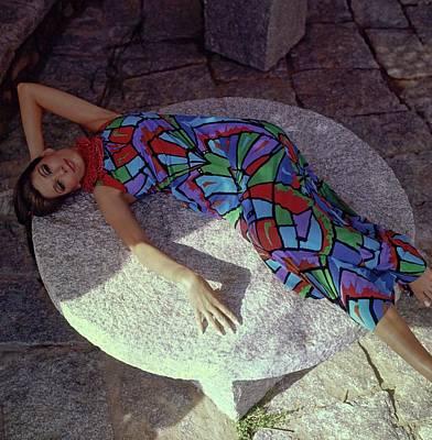 Photograph - Simone D'aillencourt Wearing Ken Scott by Henry Clarke