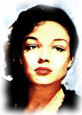 Blockbuster Painting - Simone Signoret by Paul Quarry